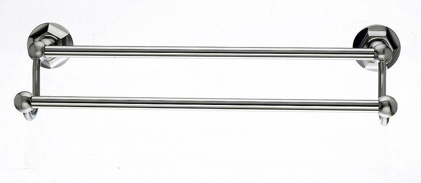 "Ed7Bsnb 18"" Double Towel Bar With Hex Detail In Brushed Satin Nickel-DirectSinks"