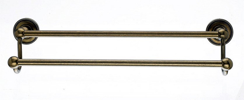 "Ed7Gbza 18"" Double Towel Bar With Beaded Detail In German Bronze-DirectSinks"