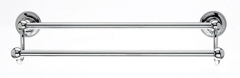 "Ed7Pca 18"" Double Towel Bar With Beaded Detail In Polished Chrome-DirectSinks"