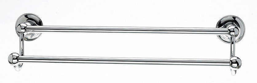 "Topknobs ED7PCD 18"" Smooth Double Towel Bar in Polished Chrome-DirectSinks"