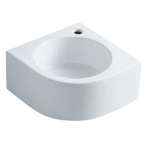 Kingston Brass Manhattan White China Vessel Bathroom Sink with Faucet Hole-Bathroom Sinks-Free Shipping-Directsinks.