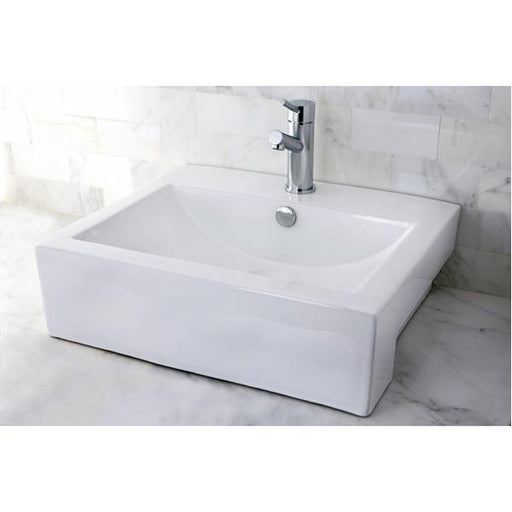 Kingston Brass Concord China Vessel Bathroom Sink with Overflow Hole-Bathroom Sinks-Free Shipping-Directsinks.