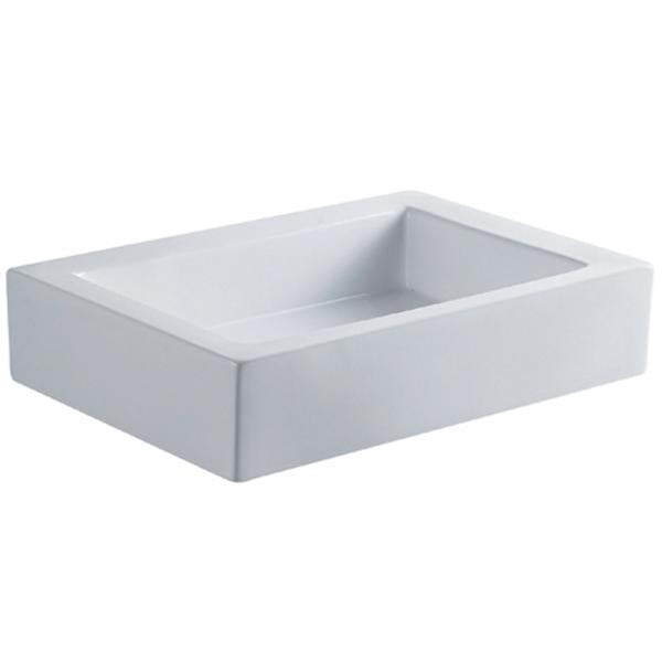 Kingston Brass Pacifica White China Vessel Bathroom Sink without Overflow Hole-Bathroom Sinks-Free Shipping-Directsinks.