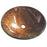 Kingston Brass Fauceture EVSPFD1 Trieste 16-1/2 Inch Diameter Round Vessel Glass Sink in Amber Bronze-Bathroom Sinks-Free Shipping-Directsinks.