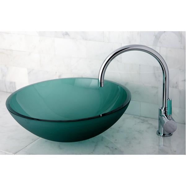 Kingston Brass Green Eden Single Handle Vessel Sink Faucet without Pop-up and Plate-Bathroom Faucets-Free Shipping-Directsinks.
