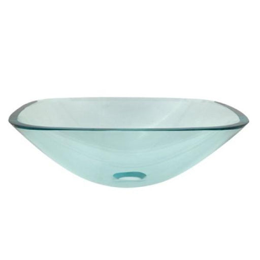 Kingston Brass Templeton Clear Tempered Glass Vessel Bathroom Sink without Overflow Hole-Bathroom Sinks-Free Shipping-Directsinks.