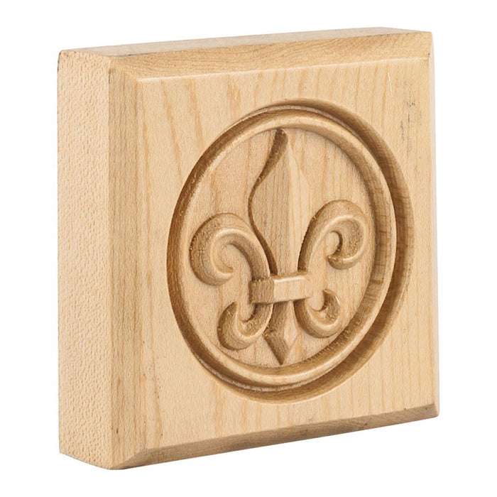 Hardware Resources Cherry Fleur-de-Lis Rosette Moulding-DirectSinks