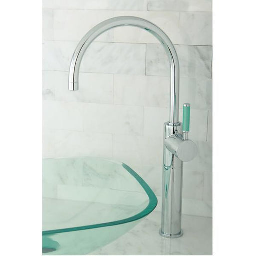 Kingston Brass Green Eden Single Handle Vessel Sink Faucet without Plate and Pop-up-Bathroom Faucets-Free Shipping-Directsinks.