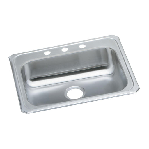 "Elkay 25"" x 21-1/4"" x 5-3/8"" Celebrity Stainless Steel Single Bowl Drop-in Sink"