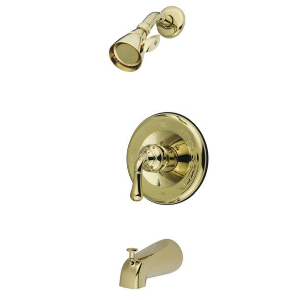 Kingston Brass GKB1632T Water Saving Magellan Tub and Shower Trim Only in Polished Brass-Shower Faucets-Free Shipping-Directsinks.