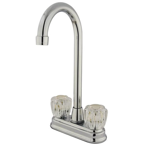 Kingston Brass GKB491AC Water Saving Magellan Chrome Bar Faucet with Acrylic Handles-Bar Faucets-Free Shipping-Directsinks.