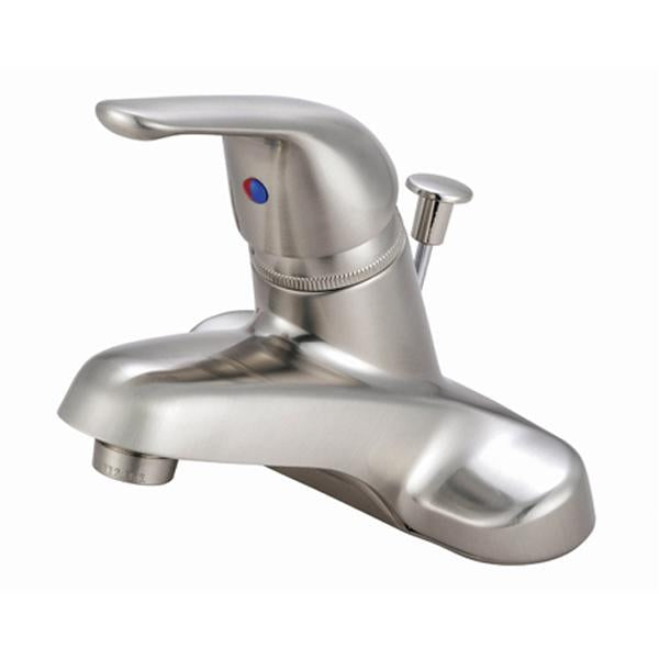 Kingston Brass GKB548 Water Saving Chatham Centerset Lavatory Faucet with Single Lever Handle and ABS Pop-up in Satin Nickel-Bathroom Faucets-Free Shipping-Directsinks.