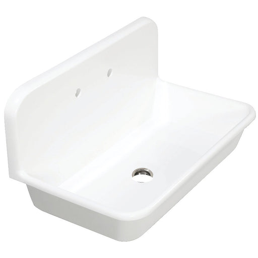 Kingston Brass Gourmetier Arcticstone 36 in. Solid Surface Farmhouse Kitchen Sink with Backsplash