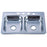 Gourmetier Studio GKTD33228MR Self-Rimming Double Bowl Kitchen Sink, Mirror-Kitchen Sinks-Free Shipping-Directsinks.