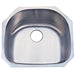 Gourmetier Loft GKUS2321 Undermount Single Bowl Kitchen Sink, Satin Nickel-Kitchen Sinks-Free Shipping-Directsinks.