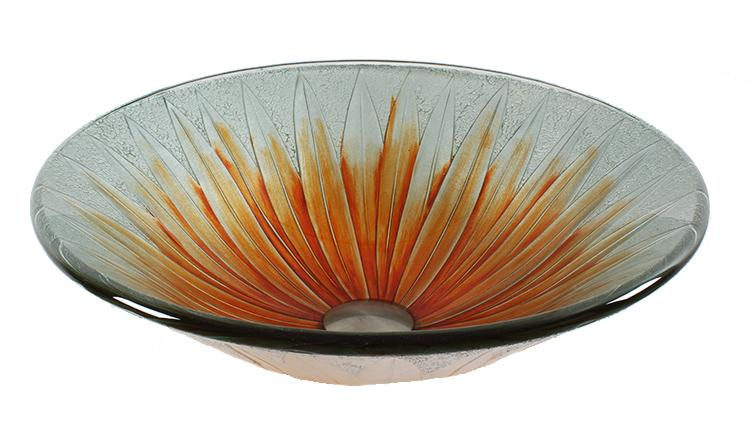 Dawn Round Shape Tempered Glass Handmade Vessel Bathroom Sink-Bathroom Sinks Fast Shipping at DirectSinks.