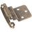 "Hardware Resources 3/8"" Inset Self-closing Hinge in Burnished Brass-DirectSinks"