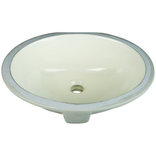 "Hardware Resources 15"" Oval Undermount Porcelain Bowl"