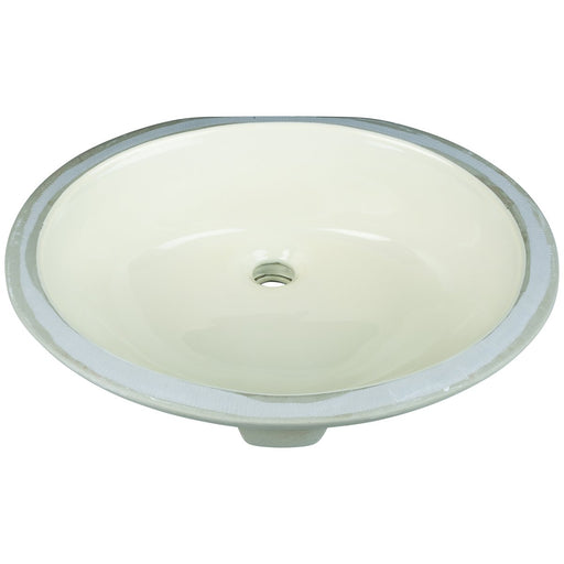 "Hardware Resources 17"" Oval Undermount Porcelain Bowl"