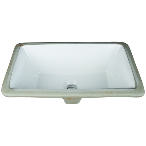 "Hardware Resources 16"" Rectangle Undermount White Porcelain Bowl"