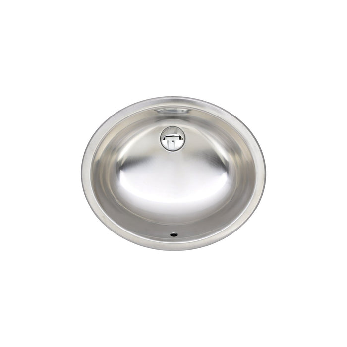 Wells Sinkware 20-Inch Oval 20-Gauge Undermount Single Bowl Stainless Steel Kitchen Bar Sink-Kitchen Sinks Fast Shipping at Directsinks.
