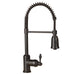 Premier Copper Products Spring Pull Down Kitchen Faucet in Oil Rubbed Bronze-DirectSinks