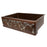 "Premier Copper Products 33"" Hammered Copper Kitchen Apron Single Basin Sink with Vineyard Design and Apron Front Nickel Background-DirectSinks"