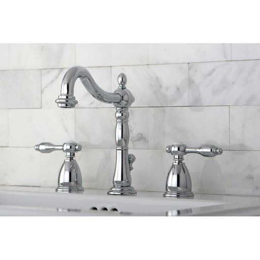 Kingston Brass Tudor Widespread Lavatory Faucet with Retail Pop-up-Kitchen Faucets-Free Shipping-Directsinks.