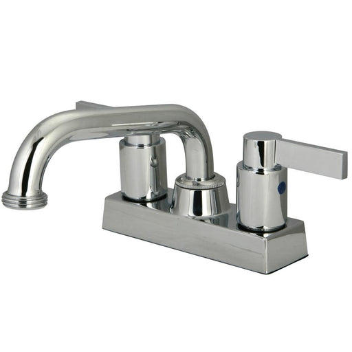 Kingston Brass NuvoFusion Two Handle 4-inch Centerset Laundry Faucet-Bathroom Faucets-Free Shipping-Directsinks.