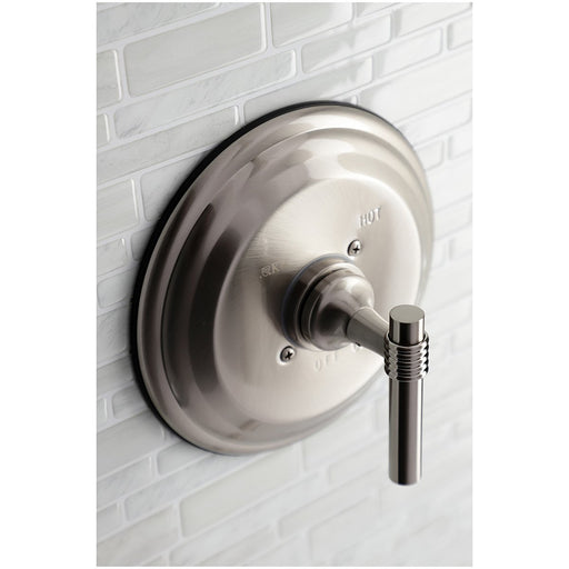 Kingston Brass Pressure Balance Valve Trim Only Without Shower and Tub Spout in Brushed Nickel