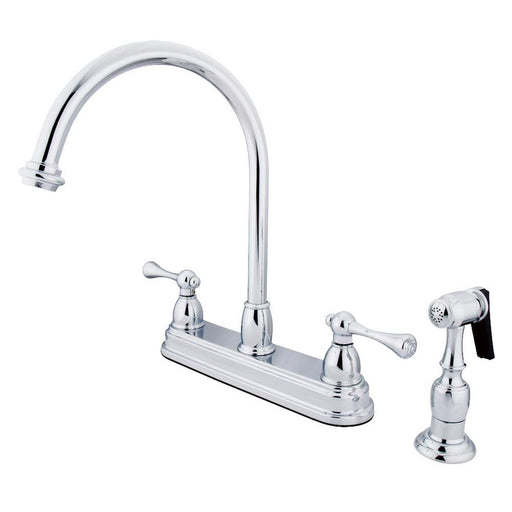 "Kingston Brass Vintage Two Handle 8"" Kitchen Faucet with Brass Sprayer-Kitchen Faucets-Free Shipping-Directsinks."