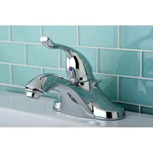Kingston Brass Yosemite KB5541YL 4-inch Centerset Single Handle Lavatory Faucet in Polished Chrome-Bathroom Faucets-Free Shipping-Directsinks.