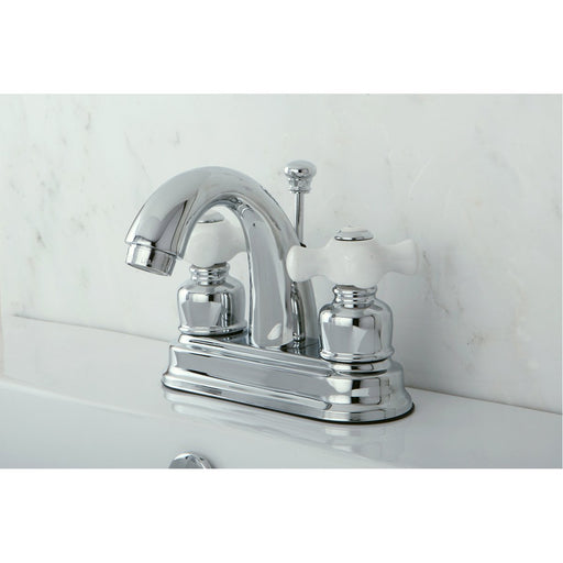 Kingston Brass Restoration 4-Inch Centerset Deck Mount Bathroom Faucet