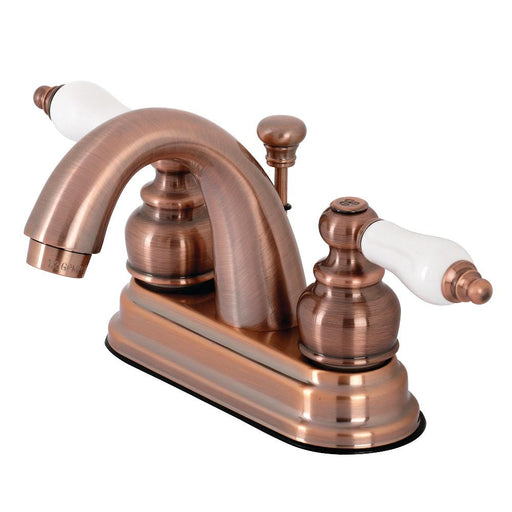 Kingston Brass KB561PLAC Restoration 4 in. Centerset Bathroom Faucet, Antique Copper