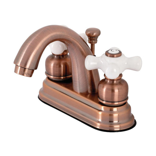 Kingston Brass KB561PXAC Restoration 4 in. Centerset Bathroom Faucet, Antique Copper