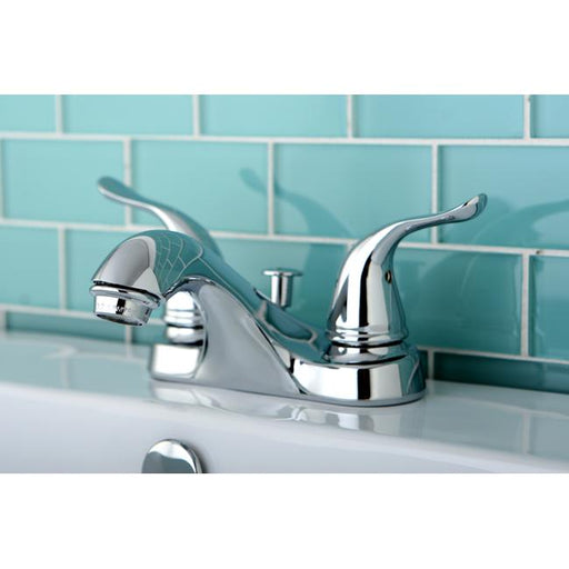 Kingston Brass Yosemite Contemporary 4-inch Centerset Two Handle Lavatory Faucet-Bathroom Faucets-Free Shipping-Directsinks.