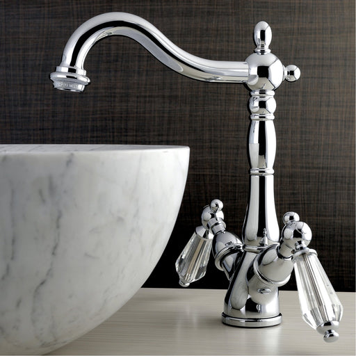 Kingston Brass Vessel Sink Faucet with Deck Plate-Bathroom Faucets-Free Shipping-Directsinks.