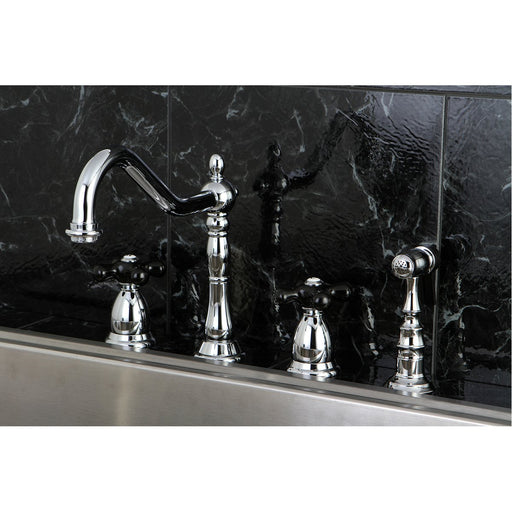 Kingston Brass Duchess Deck Mount 4-Hole Widespread Kitchen Faucet