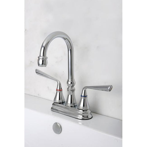 "Kingston Brass Silver Sage Two Handle 4"" Centerset Bar Faucet-Bar Faucets-Free Shipping-Directsinks."
