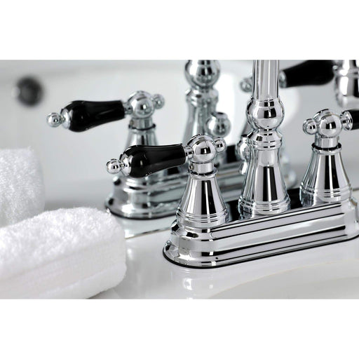 Kingston Brass KS261XPKL-P Duchess 4 in. Centerset Bathroom Faucet with Brass Pop-Up