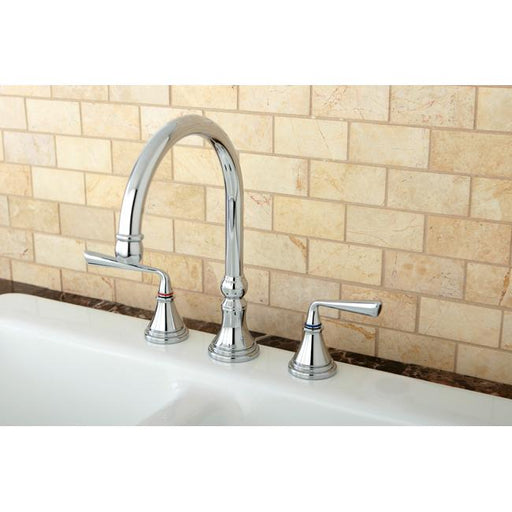"Kingston Brass Silver Sage 8"" Deck Mount Kitchen Faucet-Kitchen Faucets-Free Shipping-Directsinks."