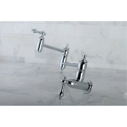 Kingston Brass Restoration Wall Mount Pot Filler Kitchen Faucet