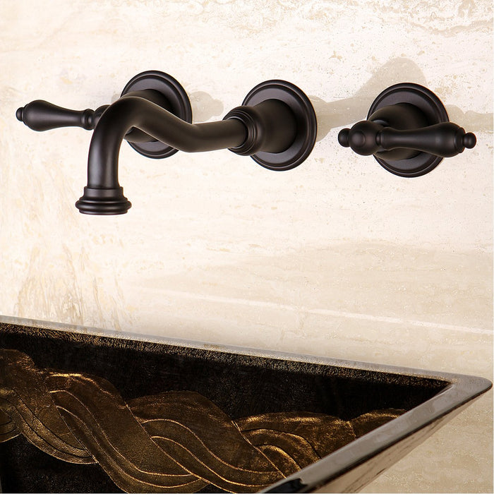 Kingston Brass Vintage 2-Handle Wall Mount Bathroom Faucet-DirectSinks