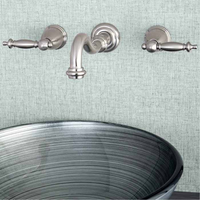 Kingston Brass Templeton Wall Mount Bathroom Faucet