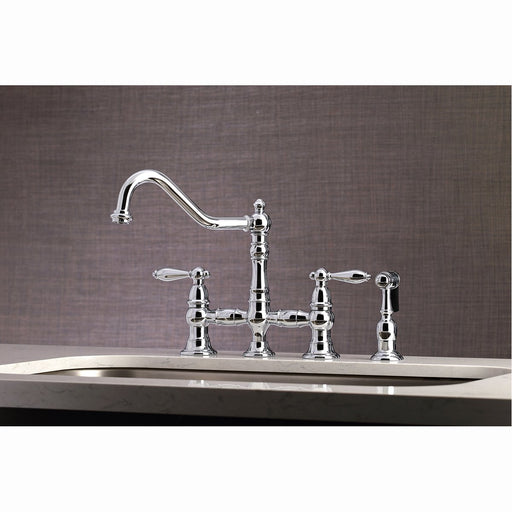 Kingston Brass Restoration Kitchen Faucet with Side Sprayer
