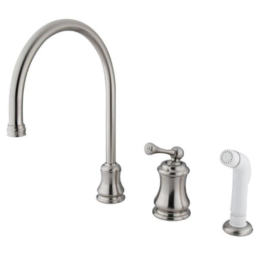 Kingston Brass Widespread Single Handle Kitchen Faucet with Non-Metallic Sprayer-Kitchen Faucets-Free Shipping-Directsinks.