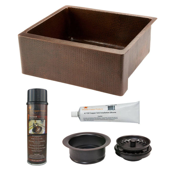 Premier Copper Products - KSP3_KASDB25229 Kitchen Sink and Drain Package-DirectSinks