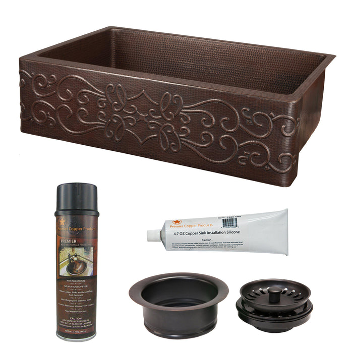 Premier Copper Products - KSP3_KASDB30229S Kitchen Sink and Drain Package-DirectSinks