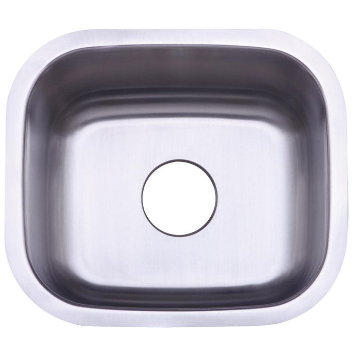 Gourmetier KU14167BN Country Stainless Steel Single Bowl Undermount Kitchen Sink, Satin Nickel-Kitchen Sinks-Free Shipping-Directsinks.