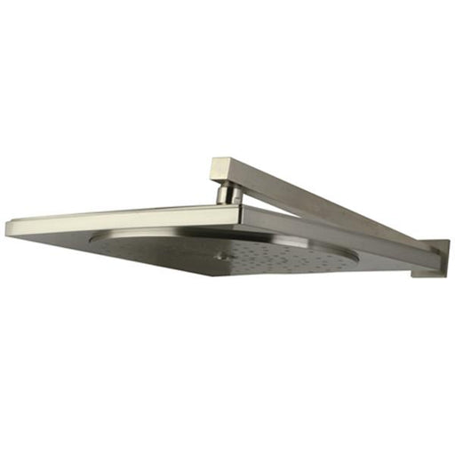 "Kingston Brass Claremont KX8228CK Claremont 12"" Rainfall Square Showerhead with 16"" Shower Arm in Satin Nickel-Shower Faucets-Free Shipping-Directsinks."